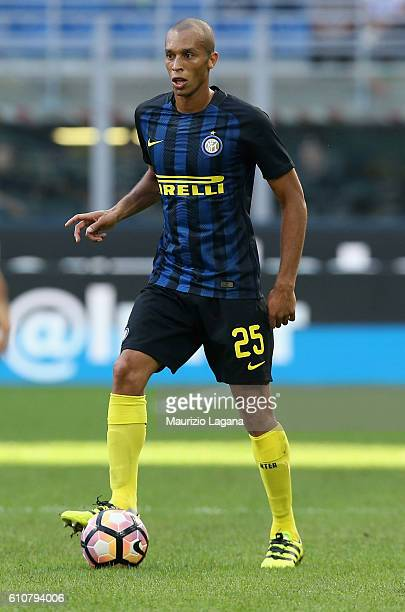 Joao Miranda of Inter during the Serie A match between FC Internazionale and Bologna FC at Stadio Giuseppe Meazza on September 25 2016 in Milan Italy