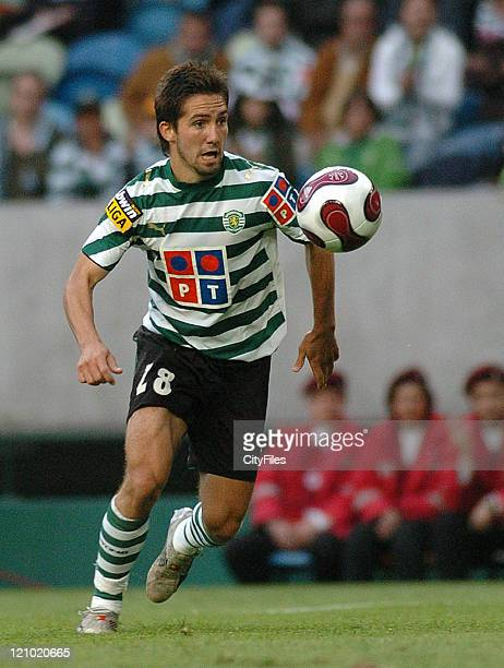 Joao Moutinho during a Portuguese League match between Sporting and Belenenses in Lisbon Portugal on May 20 2007