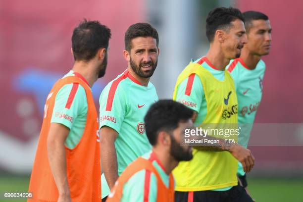 Joao Moutinho in action during the Portugal training session on June 16 2017 in Kazan Russia