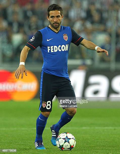 Joao Moutinho of AS Monaco FC in action during the UEFA Champions League Quarter Final First Leg match between Juventus and AS Monaco FC at Juventus...