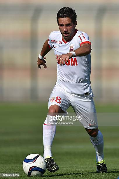 Joao Moutinho of AS Monaco in action during the preseason friendly match between Queens Park Rangers and AS Monaco on July 14 2015 in Chatillon Italy