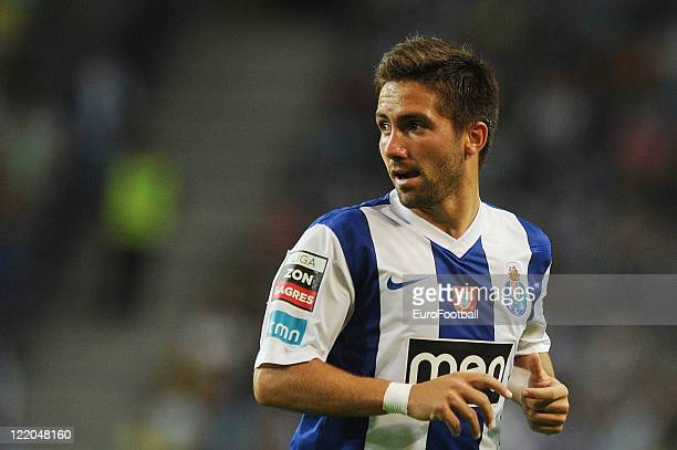 Joao Moutinho of FC Porto in action during the Portuguese Primeira Liga match between FC Porto and Gil Vicente FC held on August 19 2011 at the...