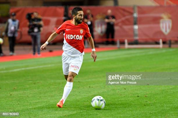Joao Moutinho of Monaco during the Ligue 1 match between AS Monaco and Montpellier Herault SC at Stade Louis II on September 29 2017 in Monaco