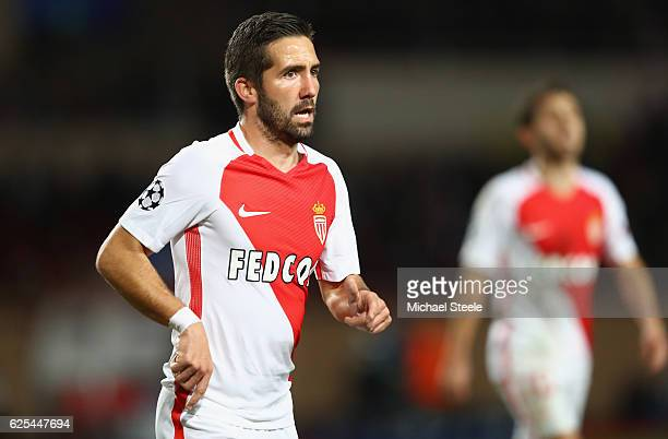 Joao Moutinho of Monaco during the UEFA Champions League Group E match between AS Monaco FC and Tottenham Hotspur FC at Louis II Stadium on November...