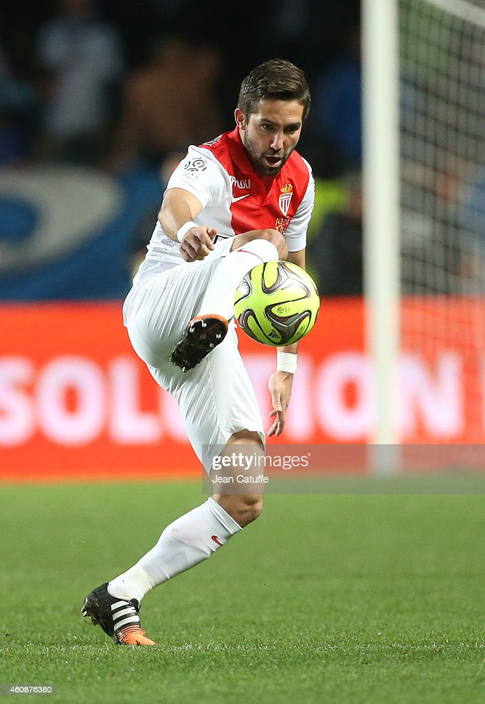 Joao Moutinho of Monaco in action during the French Ligue 1 match between AS Monaco FC v Olympique de Marseille OM at Stade Louis II on December 14...