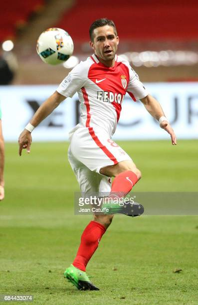 Joao Moutinho of Monaco in action during the French Ligue 1 match between AS Monaco and AS SaintEtienne at Stade Louis II on May 17 2017 in Monaco...