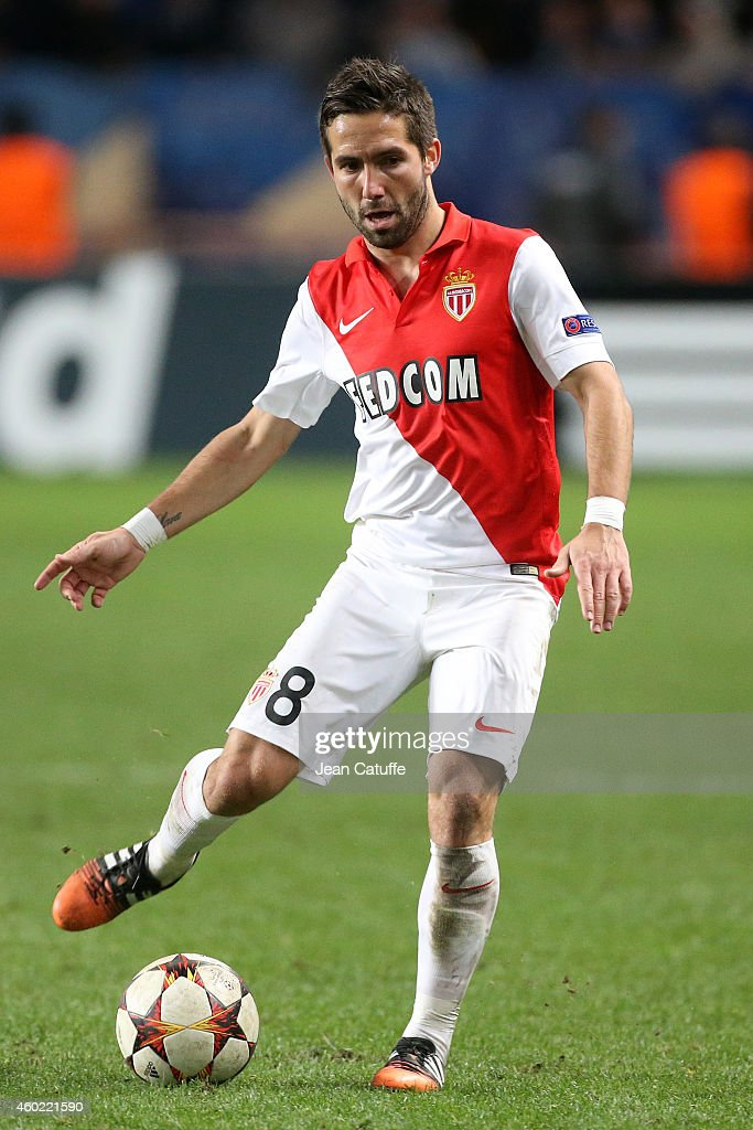 Joao Moutinho of Monaco in action during the UEFA Champions League Group C match between AS Monaco FC and FC Zenit SaintPetersburg at Stade Louis II...