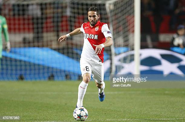 Joao Moutinho of Monaco in action during the UEFA Champions League Quarter Final second leg match between AS Monaco FC and Juventus Turin at Stade...