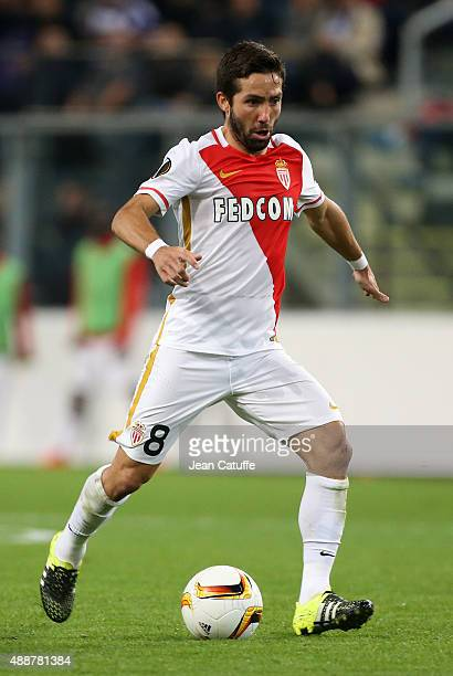Joao Moutinho of Monaco in action during the UEFA Europa League match between RSC Anderlecht and AS Monaco FC at Stade Constant Vanden Stock on...