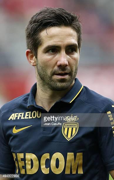 Joao Moutinho of Monaco looks on during the French Ligue 1 match between Stade de Reims and AS Monaco at Stade Auguste Delaune on October 25 2015 in...