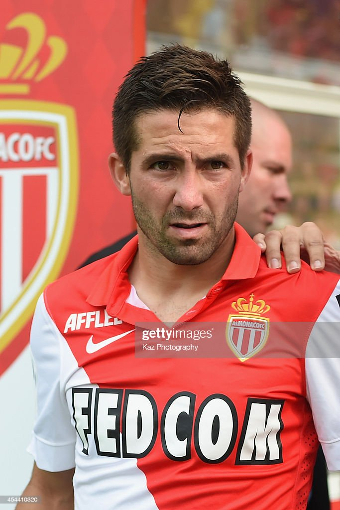 Joao Moutinho of Monaco looks on prior to the French Ligue 1 match between AS Monaco FC and LOSC Lille at Louis II Stadium on August 30 2014 in...