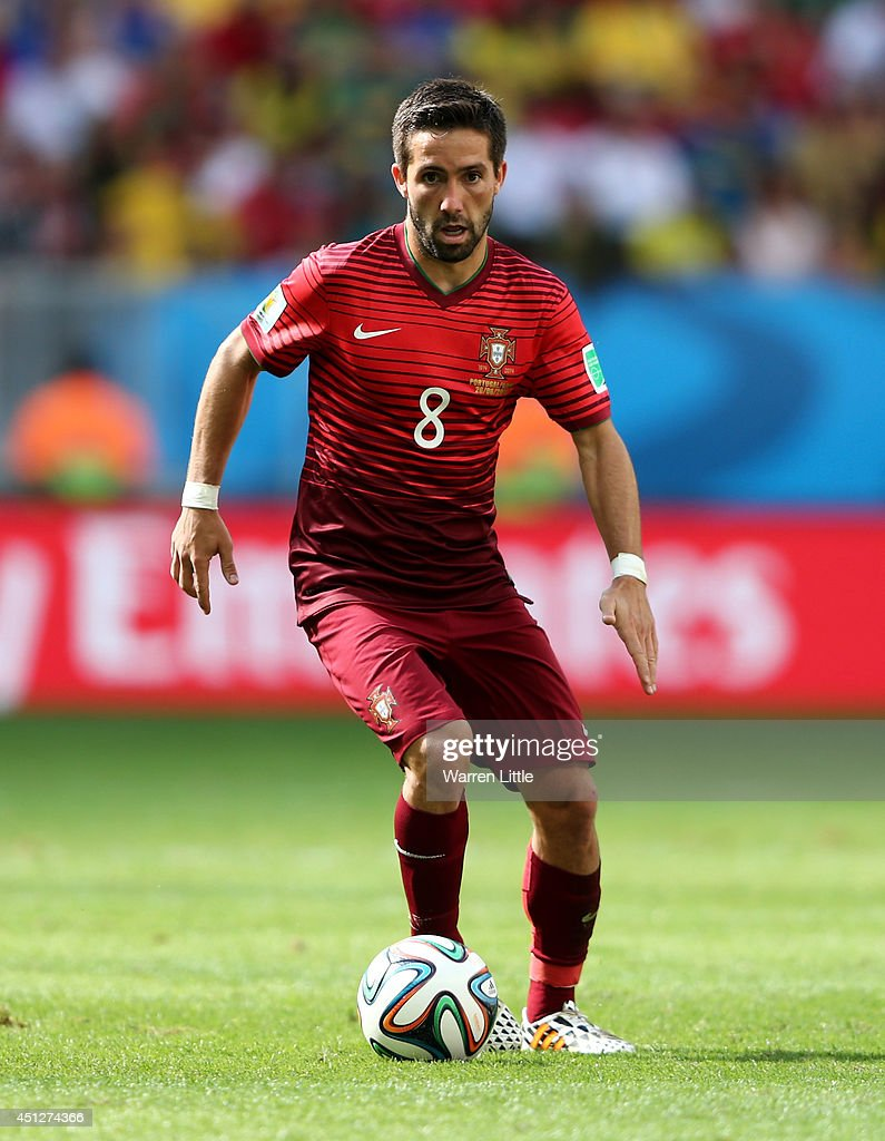 Joao Moutinho of Portugal controls the ball during the 2014 FIFA World Cup Brazil Group G match between Portugal and Ghana at Estadio Nacional on...