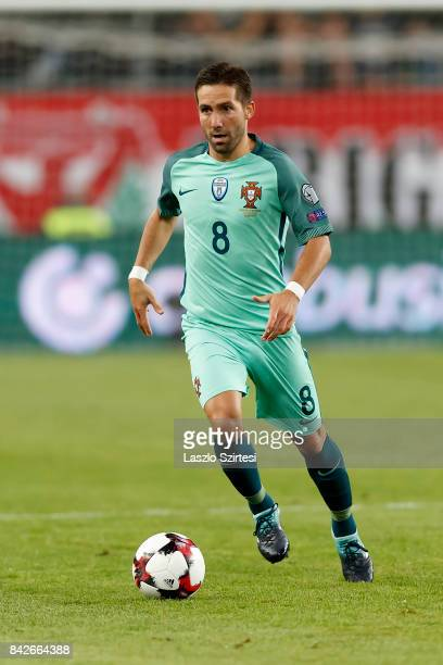 Joao Moutinho of Portugal controls the ball during the FIFA 2018 World Cup Qualifier match between Hungary and Portugal at Groupama Arena on...