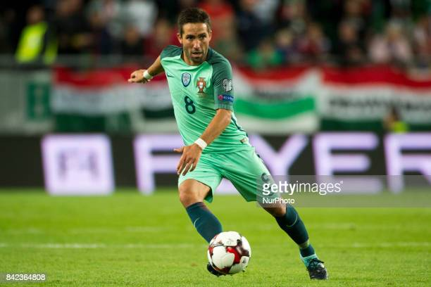 Joao Moutinho of Portugal in action during the FIFA World Cup 2018 Qualifying Round match between Hungary and Portugal at Groupama Arena in Budapest...