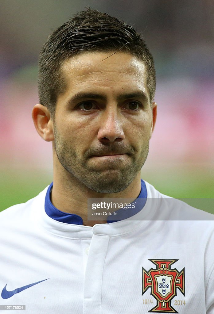 Joao Moutinho of Portugal looks on during the international friendly match between France and Portugal at Stade de France on October 11 2014 in...