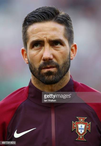 Joao Moutinho of Portugal looks on prior to the FIFA Confederations Cup Russia 2017 Group A match between Portugal and Mexico at Kazan Arena on June...