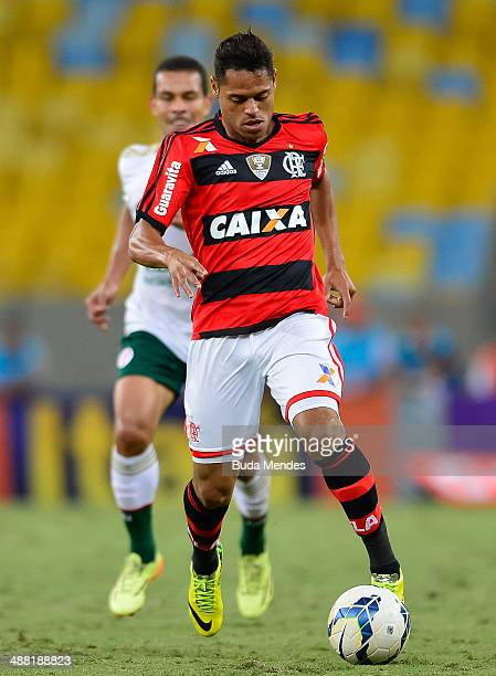Joao Paulo of Flamengo in action during a match between Flamengo and Palmeiras as part of Brasileirao Series A 2014 at Maracana Stadium on May 04...