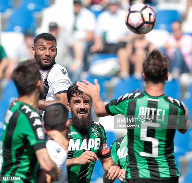 Joao Pedro Dos Santos Galvao of Cagliari Calcio looks the ball during the Serie A match between US Sassuolo and Cagliari Calcio at Mapei Stadium...
