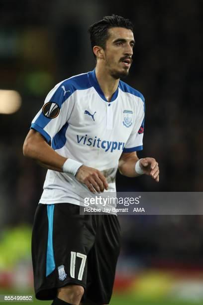 Joao Pedro of Apollon Limassolof during the UEFA Europa League group E match between Everton FC and Apollon Limassol at Goodison Park on September 28...