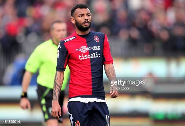 Joao Pedro of Cagliari in action during the Serie A match between Cagliari Calcio and Hellas Verona FC at Stadio Sant'Elia on March 1 2015 in...