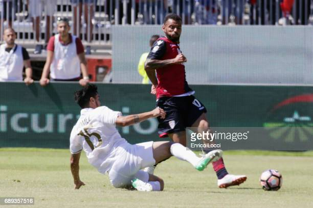 Joao Pedro of Cagliari in action during the Serie A match between Cagliari Calcio and AC Milan at Stadio Sant'Elia on May 28 2017 in Cagliari Italy
