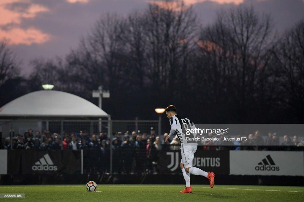 Joao Serrao Pereira during the TIM Cup Primavera match between Juventus U19 and Torino FC U19 at Juventus Center Vinovo on November 29, 2017 in Vinovo, Italy.