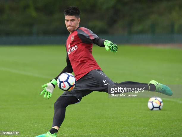 Joao Virginia of Arsenal during a training session at London Colney on August 18 2017 in St Albans England