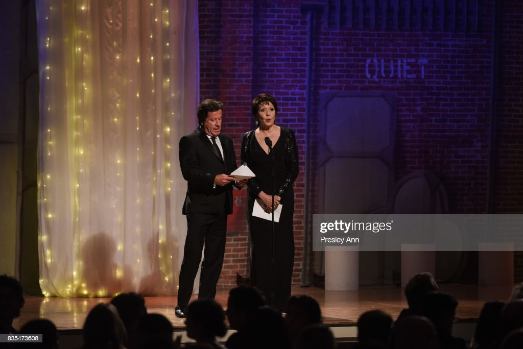 Joaquim de Almeida and Ivonne Coll attend 32nd Annual Imagen Awards - Inside at the Beverly Wilshire Four Seasons Hotel on August 18, 2017 in Beverly Hills, California.