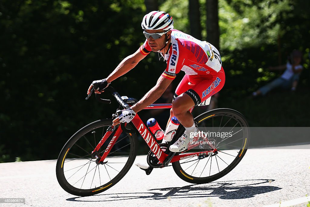 Joaquim 'Purito' Rodriguez of Spain and Team Katusha in action during the seventeenth stage of the 2014 Tour de France, a 125km stage between Saint-Gaudens and Saint-Lary-Soulan Pla d'Adet, on July 23, 2014 in Saint-Lary Pla d'Adet, France.