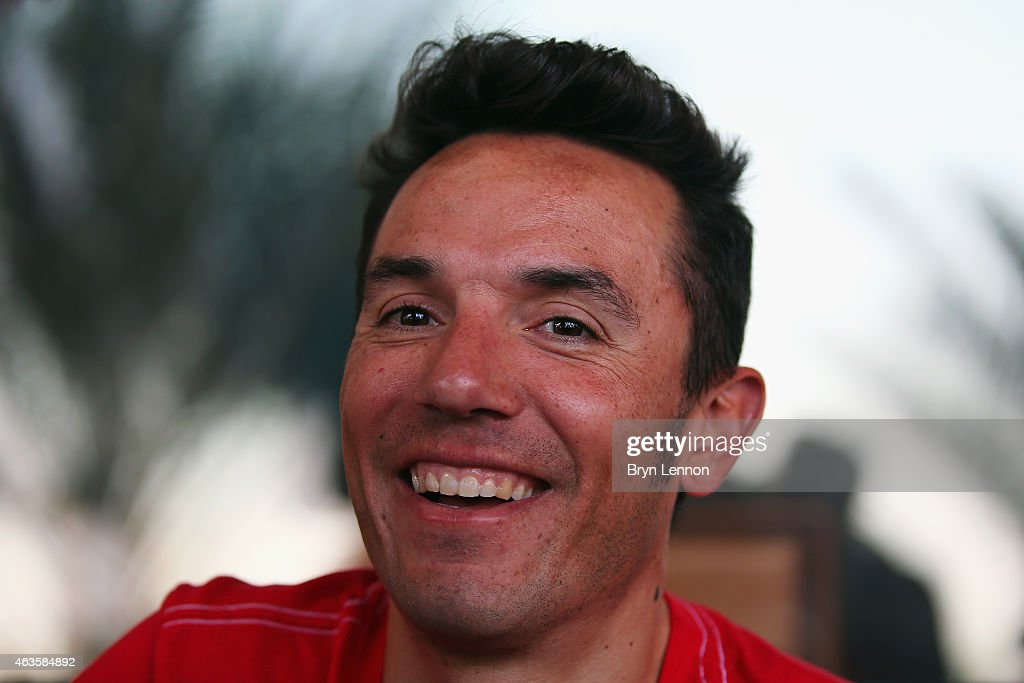 Joaquim Rodríguez of Spain and Team Katusha looks on during interviews ahead of tomorrow's Tour of Oman on February 16, 2015 in Mussanah, Oman.