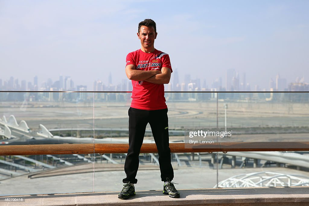 Joaquim Rodríguez of Spain and Team Katusha poses for a photo at the Meydan Racecourse ahead of the Dubai Tour on February 3, 2015 in Dubai, United Arab Emirates.