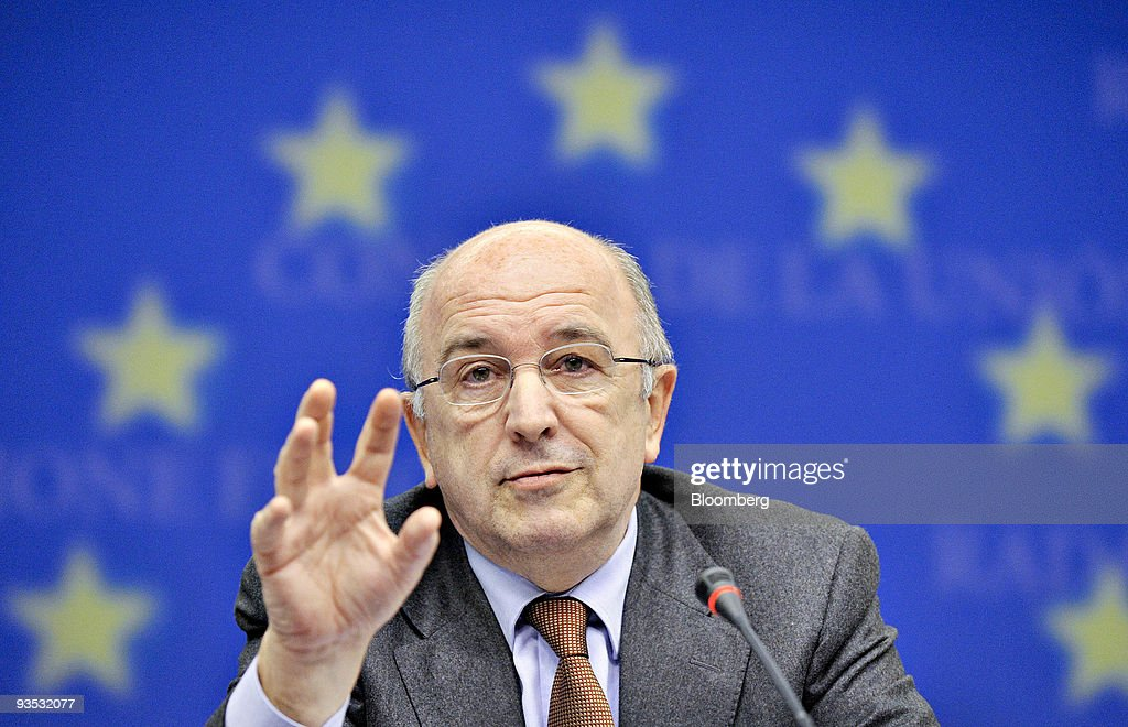 Joaquin Almunia commissioner for economic and monetary affairs for the European Union and incoming chief of antitrust for the European Commission...