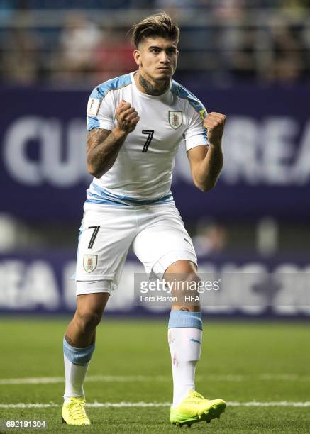 Joaquin Ardaiz of Uruguay celebrates during the FIFA U20 World Cup Korea Republic 2017 Quarter Final match between Portugal and Uruguay at Daejeon...