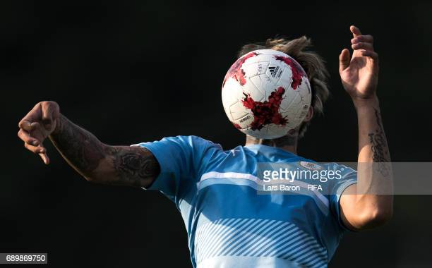 Joaquin Ardaiz of Uruguay is seen during a Uruguay training session at Suwon World Cup Stadium Auxiliary Field on May 29 2017 in Suwon South Korea