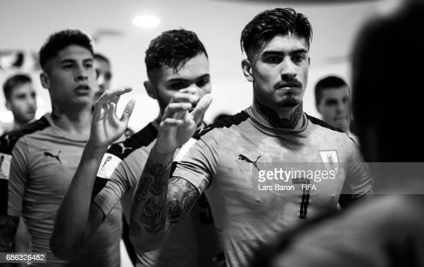 Joaquin Ardaiz of Uruguay is seen in the tunnel with his team mates prior to the FIFA U20 World Cup Korea Republic 2017 group D match between Italy...
