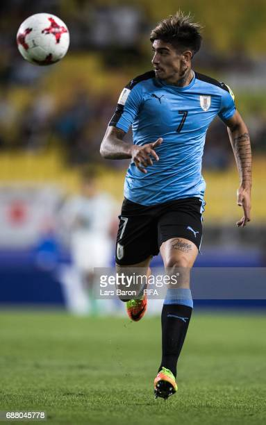 Joaquin Ardaiz of Uruguay runs with the ball during the FIFA U20 World Cup Korea Republic 2017 group D match between Uruguay and Japan at Suwon World...