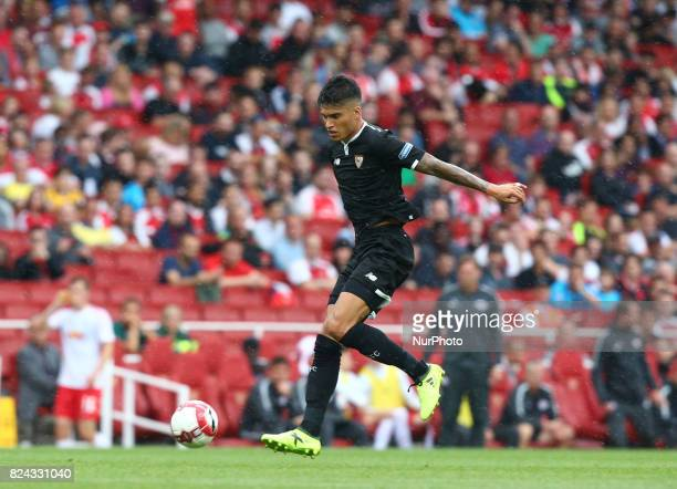 Joaquin Correa of Sevilla FC during Emirates Cup match between RB Leipzig against Sevilla at Emirates Stadium on 29 July 2017