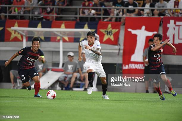 Joaquin Correa of Sevilla FC in action during the preseason friendly match between Kashima Antlers and Sevilla FC at Kashima Soccer Stadium on July...