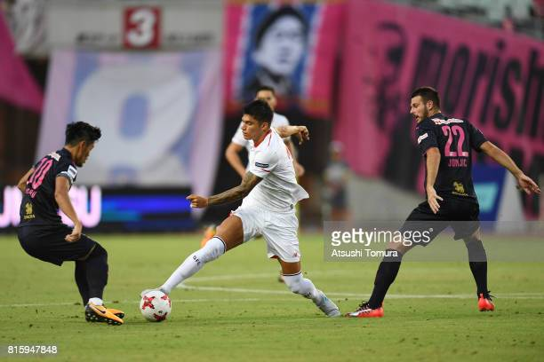 Joaquin Correa of Sevilla FC runs with the ball during the preseason friendly match between Cerezo Osaka and Sevilla FC at Yanmar Stadium Nagai on...
