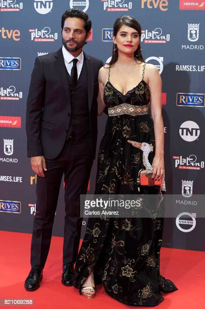 Joaquin Furiel and Eva Dominici attends the Platino Awards 2017 photocall at the La Caja Magica on July 22 2017 in Madrid Spain