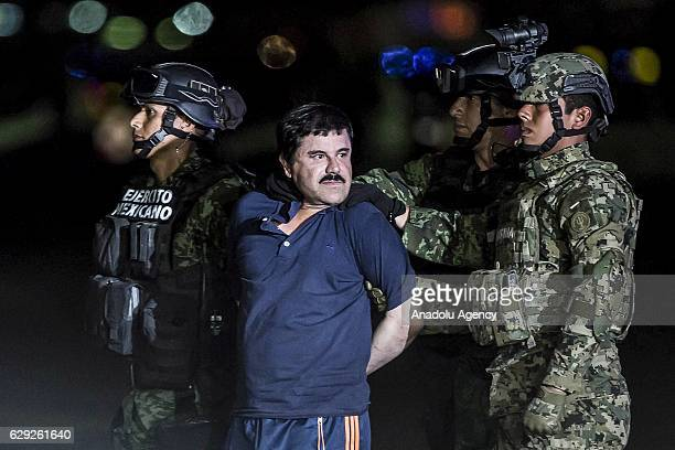 Joaquin Guzman Loera also known as 'El Chapo' is transported to Maximum Security Prison of El Altiplano in Mexico City Mexico on January 08 2016...