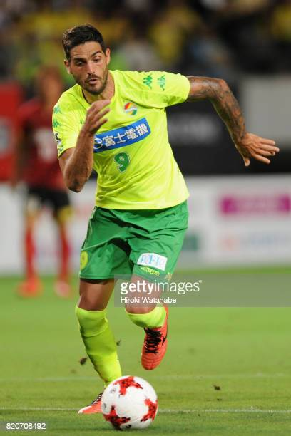 Joaquin Larrivey of JEF United Chiba in action during the JLeague J2 match between JEF United Chiba and Zweigen Kanazawa at Fukuda Denshi Arena on...