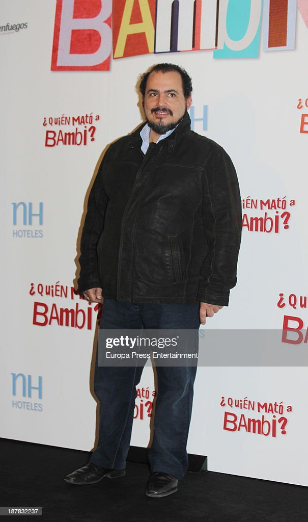 Joaquin Nunez attends the photocall of '¿Quien Mato a Bambi?' at Hesperia Hotel on November 12, 2013 in Madrid, Spain.
