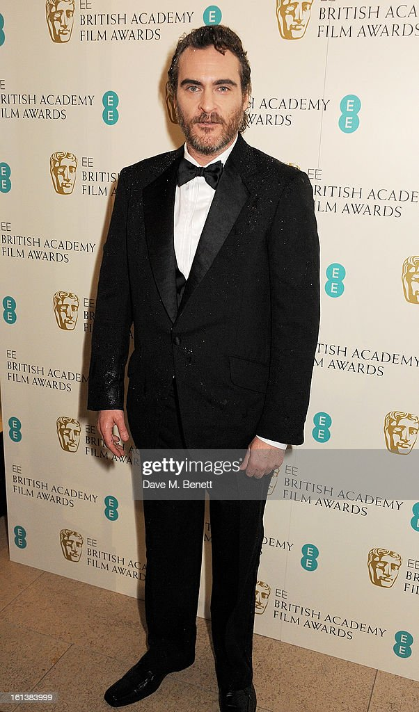 Joaquin Pheonix arrives at the EE British Academy Film Awards at the Royal Opera House on February 10, 2013 in London, England.