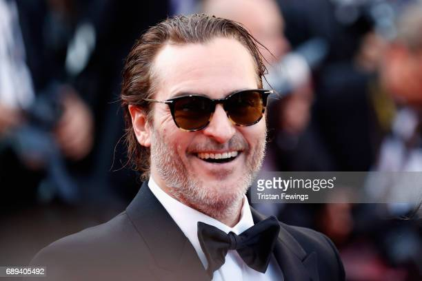 Joaquin Pheonix attends the Closing Ceremony of the 70th annual Cannes Film Festival at Palais des Festivals on May 28 2017 in Cannes France