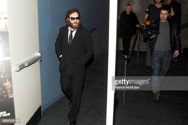 Joaquin Phoenix and Casey Affleck attend THE CINEMA SOCIETY and SALVATORE FERRAGAMO host a screening of 'TWO LOVERS' at Landmark Sunshine Theater on...