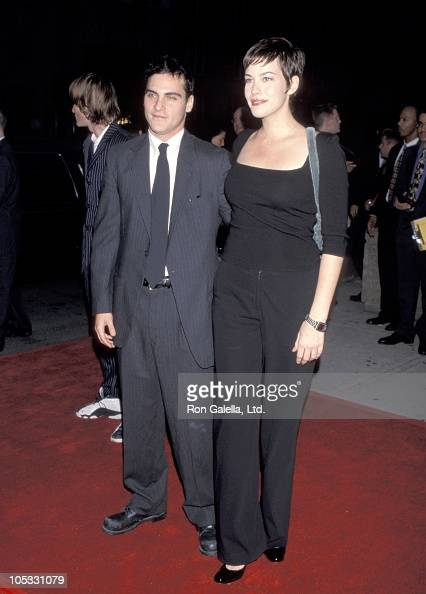 Joaquin Phoenix and Liv Tyler at the New York City Premiere of 'Clay Pigeons' 9/17/98