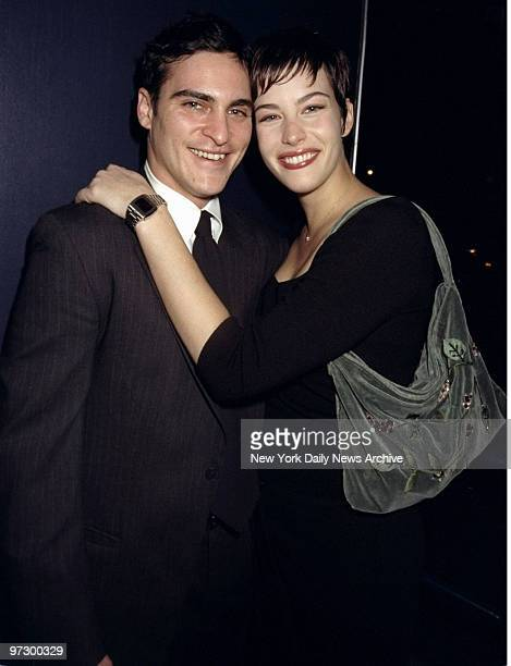 Joaquin Phoenix and Liv Tyler make a cozy couple at the premiere of 'Clay Pigeons' at the Loew's Cineplex Chelsea West Phoenix stars in the movie