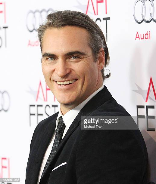 Joaquin Phoenix arrives at AFI FEST 2014 presented by Audi gala premiere of 'Inherent Vice' held at the Egyptian Theatre on November 8 2014 in...