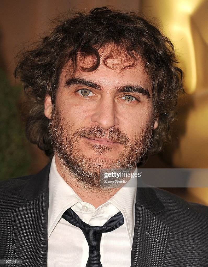 Joaquin Phoenix arrives at the 85th Academy Awards - Nominees Luncheon at The Beverly Hilton Hotel on February 4, 2013 in Beverly Hills, California.